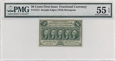 Fr# 1312 PMG 55 EPQ About Uncirculated