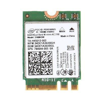 For Intel Wireless-AC 3160NGW Dual Band 2.4/5.8Ghz NGFF Bluetooth 4.0 Wifi Card
