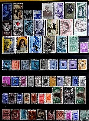 Italy: Classic Era To 1960's Stamp Collection With Back Of Book