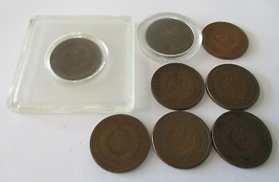 8- 1864 1865 1868 1870 1871 3- No Date Two Cent Piece 2 Cent Piece 2 Cent Shield