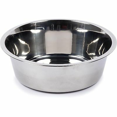 20cm Stainless Steel Dog Feeding Pet Food Water Bowl Puppy Weaning Feeder Dish