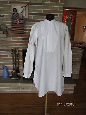 Man's vintage white dress shirt late 1800's early 1900's
