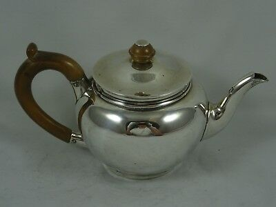 GEORGE I copy solid silver BACHELOR`S TEA POT, 1921, 164gm