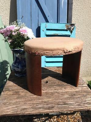 Vintage Art Deco Stool Curved Wooden Legs 1930s Upholstery Project Odeon Chic