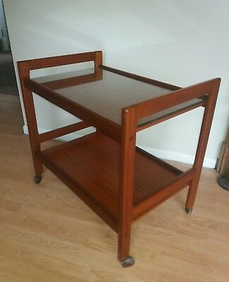 Super Vintage Retro Mid Century Danish Teak Serving Trolley DRDR FURBO Danish