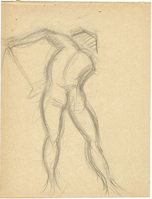 1914 Page from the school album of RUSSIAN ARTIST M.A.Markov NUDE MALE #5