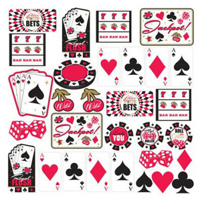 Printed 26.6cm Poker Night Casino Place Your Bets Cutout
