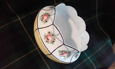 Orig. Antique / Vintage Glass Lamp Shade with Roses.