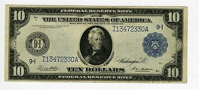 1914 Large Size $10 Federal Reserve Note