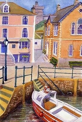 Beside the Fowey Cornwall art print from Watercolour painting by Alex Pointer