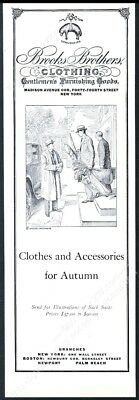1931 Brooks Brothers man's suit overcoat clothes vintage fashion print ad