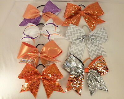 Cheerleading Cheer Bows Large LOT of 7