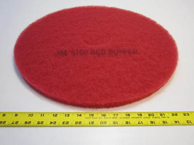 """19"""" Red Polyester Buffing And Floor Cleaning Pads Pack Of 5 NEW"""