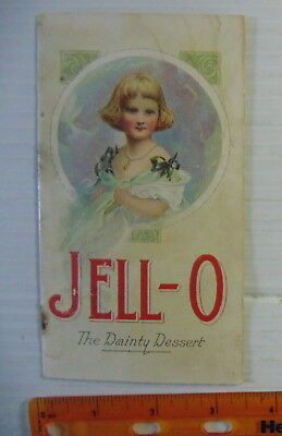 1905 Jell-O The Dainty Dessert Recipe Booklet RARE