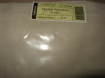 Longaberger Medium Gathering Basket liner in flax tan mint in bag never used!