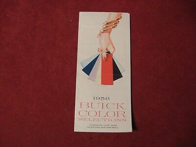 1958 Buick Dealer Salesman Dealership Brochure Original Booklet Old Catalog  GM
