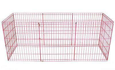 24-Pink Tall Dog Playpen Crate Fence Pet Kennel Play Pen Exercise Cage -8 Panel