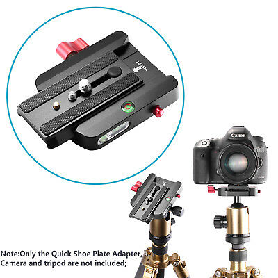 Neewer Quick Shoe Plate Connect Adapter for DSLR Camera Camcorder Tripod Monopod