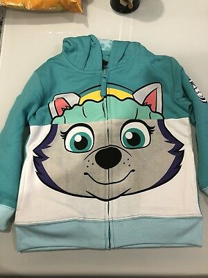 NICKELODEON PAW PATROL EVEREST Big Face Hoodie,size 4