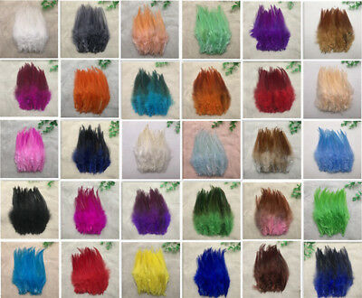 50/100pcs beautiful rooster tail feathers 10-15cm/4-6inches 32 Colour