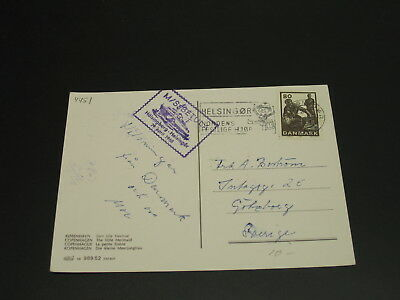 Denmark 1968 ship mail postcard to Sweden *4451