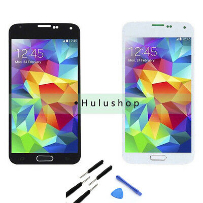 Replace For Samsung Galaxy S5 i9600 G900R LCD Screen Touch Digitizer Home Button