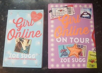 Zoe Sugg books.  Girl Online and Girl Online On tour