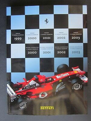 2003 ANNUARIO FERRARI Shumacher Campioni del Mondo yearbook F1 world champion