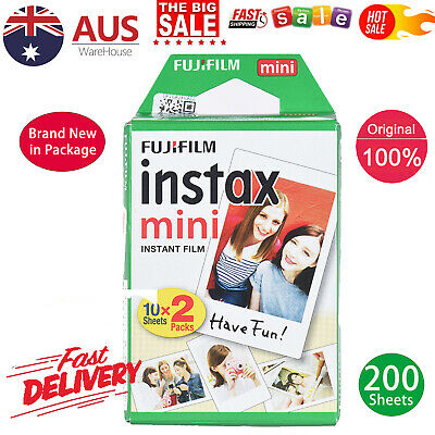 20~200 Sheets Fujifilm Instax Mini Film Instant Photo 7s 8 25 90 Polaroid 300 AU