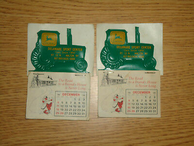 2-John Deere Tractor Dealer Calendars-1988-Delaware Sport Center Walton, NY
