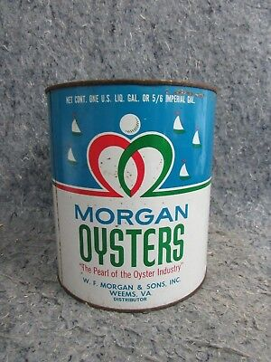 Vintage Morgan Oysters One Gallon Can