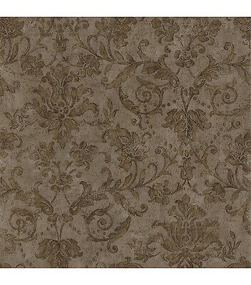 Formal Golden Scroll Damask Wallpaper 93902M