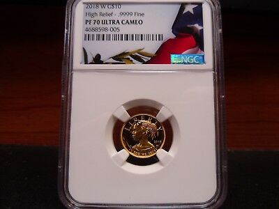 2018-W PF70 Ultra Cameo American Liberty Gold $10 1/10 Oz NGC Certified Perfect