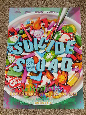 SUICIDE SQUAD CEREAL IMAX 13x19 PROMO MOVIE POSTER