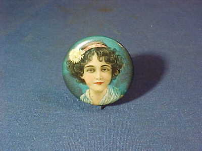 Orig Early 20thc CRACKER JACK Advertising PINBACK w Young GIRL IMAGE