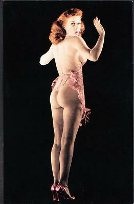 RISQUE NUDE CLASSIC PIN-UP GIRL Postcard #205