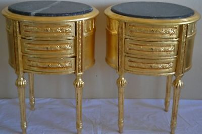 Pair of gold nightstands - Baroque style -