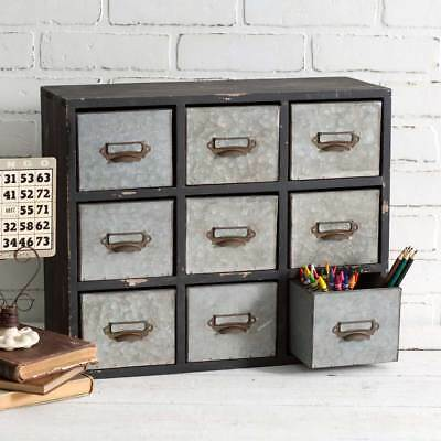 Old Station 9 Drawer Industrial Organizer