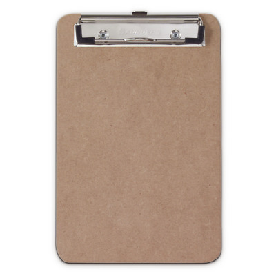 "Saunders 05510 Low Profile 6""X9"" Recycled Hardboard Memo Clipboard Hanging Hole"