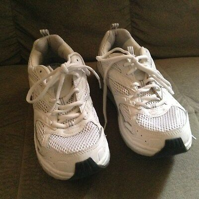 Dr Scholls Womans White Athletic Sneakers W/Gel Cushion Technology Size 10 EUC