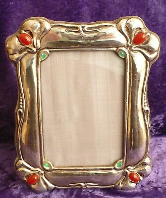 Lovely Italian Sterling Silver Photo Frame In Art Nouveau Style