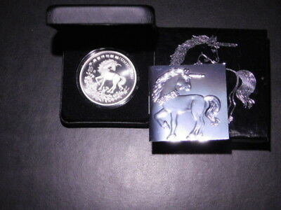 1994 China 1 oz 999 Silver Unicorn Original Box & COA