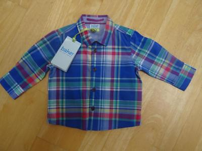 TED BAKER baby boys multi check long sleeve shirt AGE 3-6 MONTHS NEW BNWT