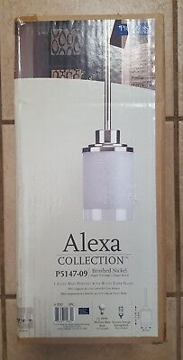 progress lighting alexa collection 1 light brushed nickel mini