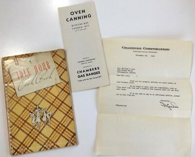 ORIGINAL Chambers Stove Cookbook - Idle Hour Cookbook & Oven Canning Guide