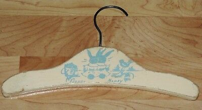 Vintage Flopsy Mopsy Bunny Rabbit Child's Wood Clothes Hanger