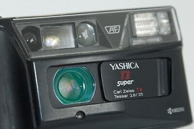 Yashica T3 SUPER CARL ZEISS TESSAR 35mm F2.8 Film Camera JAPAN CHECKED W.FILM
