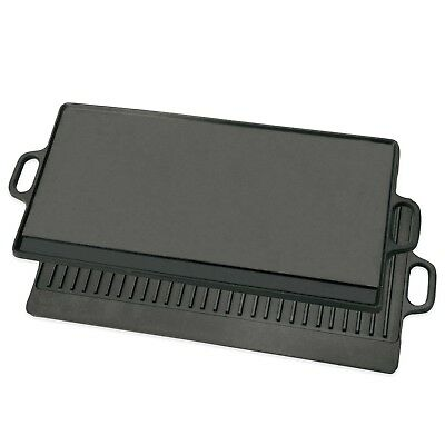 Large Cast Iron  Double Side Reversible Grill Griddle Stovetop - BBQ - Gas Grill
