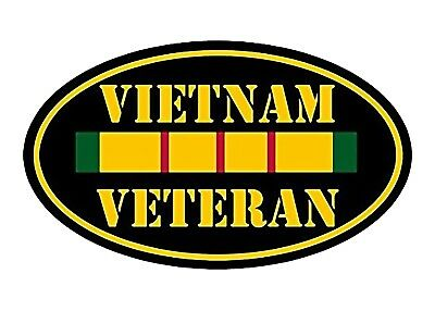 "ProSticker 1074 4/"" United States Navy USN Vietnam Veteran Decal Sticker One"