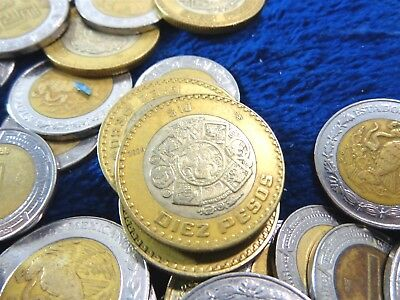 Big Lot of Mexican Currency 1, 5, 10 Pesos Coins